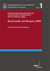 Grammatik und Korpora 2009/Grammar and Corpora 2009.