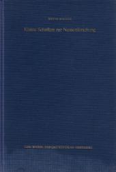 Kleine Schriften zur Namenforschung 1945-1981. - Boesch, Bruno