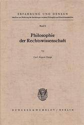 Philosophie der Rechtswissenschaft. - Emge, Carl August
